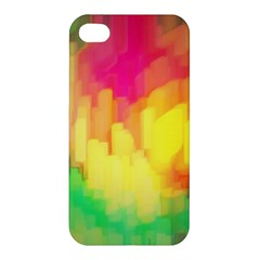 Pastel Shapes Painting           Apple Iphone 4/4s Hardshell Case by LalyLauraFLM