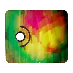 Pastel Shapes Painting      Samsung Galaxy Note Ii Flip 360 Case by LalyLauraFLM