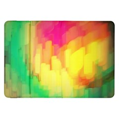 Pastel Shapes Painting      Samsung Galaxy Tab 10 1  P7500 Flip Case by LalyLauraFLM