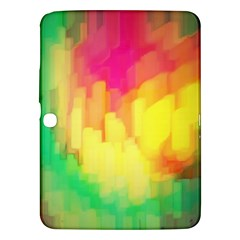 Pastel Shapes Painting      Samsung Galaxy Tab 3 (8 ) T3100 Hardshell Case by LalyLauraFLM