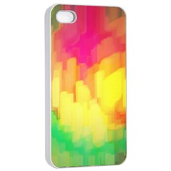 Pastel Shapes Painting      Apple Iphone 4/4s Seamless Case (black) by LalyLauraFLM