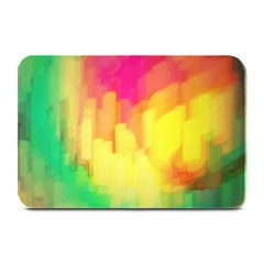 Pastel Shapes Painting           Large Bar Mat by LalyLauraFLM