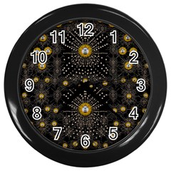 Lace Of Pearls In The Earth Galaxy Pop Art Wall Clocks (black) by pepitasart