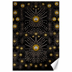 Lace Of Pearls In The Earth Galaxy Pop Art Canvas 24  X 36  by pepitasart