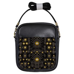 Lace Of Pearls In The Earth Galaxy Pop Art Girls Sling Bags by pepitasart