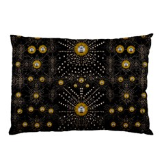 Lace Of Pearls In The Earth Galaxy Pop Art Pillow Case (two Sides) by pepitasart