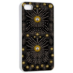 Lace Of Pearls In The Earth Galaxy Pop Art Apple Iphone 4/4s Seamless Case (white) by pepitasart
