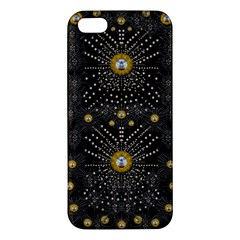 Lace Of Pearls In The Earth Galaxy Pop Art Apple Iphone 5 Premium Hardshell Case by pepitasart