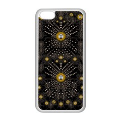 Lace Of Pearls In The Earth Galaxy Pop Art Apple Iphone 5c Seamless Case (white) by pepitasart