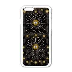 Lace Of Pearls In The Earth Galaxy Pop Art Apple Iphone 6/6s White Enamel Case by pepitasart