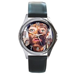 Shitfaced Round Metal Watch by RakeClag