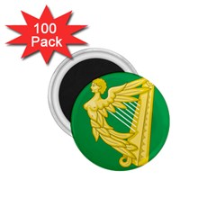 The Green Harp Flag Of Ireland (1642 1916) 1 75  Magnets (100 Pack)  by abbeyz71