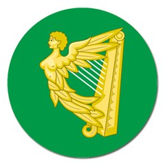 The Green Harp Flag Of Ireland (1642 1916) Magnet 5  (round) by abbeyz71
