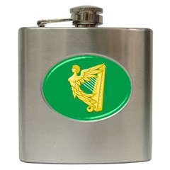 The Green Harp Flag Of Ireland (1642 1916) Hip Flask (6 Oz) by abbeyz71
