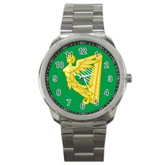 The Green Harp Flag Of Ireland (1642 1916) Sport Metal Watch by abbeyz71