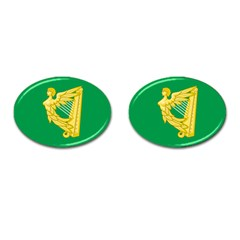 The Green Harp Flag Of Ireland (1642 1916) Cufflinks (oval) by abbeyz71
