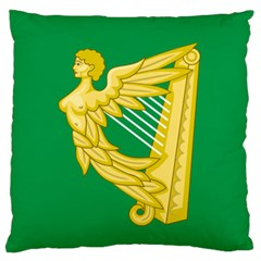 The Green Harp Flag Of Ireland (1642 1916) Standard Flano Cushion Case (one Side) by abbeyz71