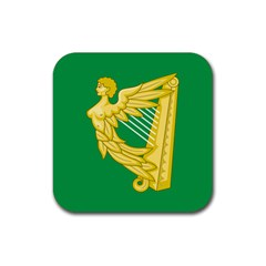 The Green Harp Flag Of Ireland (1642 1916) Rubber Coaster (square)  by abbeyz71