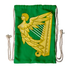 The Green Harp Flag Of Ireland (1642 1916) Drawstring Bag (large) by abbeyz71