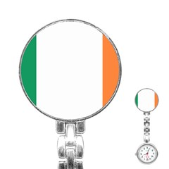 Flag Of Ireland  Stainless Steel Nurses Watch by abbeyz71