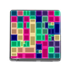 Rectangles And Squares              Memory Card Reader (square) by LalyLauraFLM