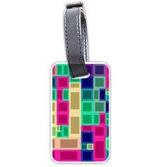 Rectangles And Squares              Luggage Tag (one Side) by LalyLauraFLM