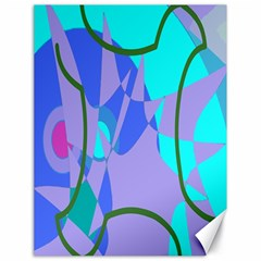 Purple Blue Shapes              Canvas 18  X 24  by LalyLauraFLM