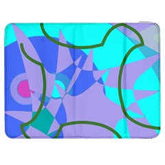 Purple Blue Shapes        Htc One M7 Hardshell Case by LalyLauraFLM