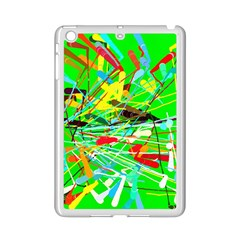 Colorful Painting On A Green Background        Apple Ipad 3/4 Case (white) by LalyLauraFLM