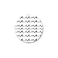 Black And White Wavy Stripes Pattern Golf Ball Marker (10 Pack) by dflcprints