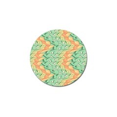 Emerald And Salmon Pattern Golf Ball Marker (10 Pack) by linceazul