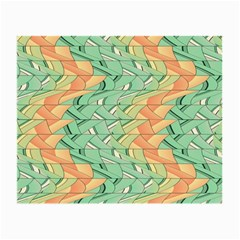 Emerald And Salmon Pattern Small Glasses Cloth (2 Side) by linceazul