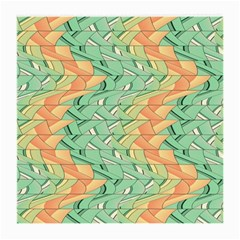 Emerald And Salmon Pattern Medium Glasses Cloth by linceazul