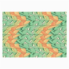Emerald And Salmon Pattern Large Glasses Cloth (2 Side) by linceazul