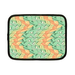 Emerald And Salmon Pattern Netbook Case (small)  by linceazul