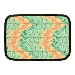 Emerald And Salmon Pattern Netbook Case (medium)  by linceazul