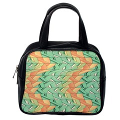Emerald And Salmon Pattern Classic Handbags (one Side) by linceazul