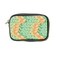 Emerald And Salmon Pattern Coin Purse by linceazul