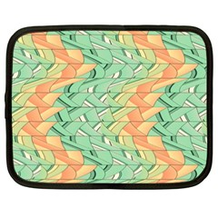 Emerald And Salmon Pattern Netbook Case (xxl)  by linceazul