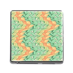 Emerald And Salmon Pattern Memory Card Reader (square) by linceazul