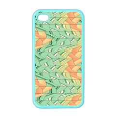 Emerald And Salmon Pattern Apple Iphone 4 Case (color) by linceazul