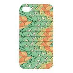 Emerald And Salmon Pattern Apple Iphone 4/4s Hardshell Case by linceazul