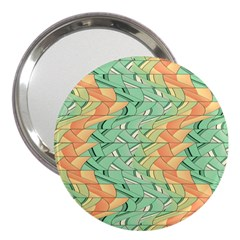 Emerald And Salmon Pattern 3  Handbag Mirrors by linceazul