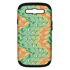 Emerald And Salmon Pattern Samsung Galaxy S Iii Hardshell Case (pc+silicone) by linceazul
