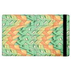 Emerald And Salmon Pattern Apple Ipad 2 Flip Case by linceazul