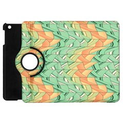 Emerald And Salmon Pattern Apple Ipad Mini Flip 360 Case by linceazul