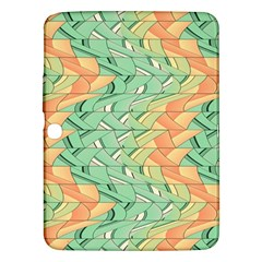 Emerald And Salmon Pattern Samsung Galaxy Tab 3 (10 1 ) P5200 Hardshell Case  by linceazul