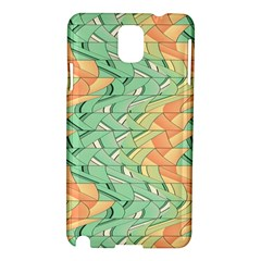 Emerald And Salmon Pattern Samsung Galaxy Note 3 N9005 Hardshell Case by linceazul