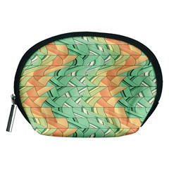 Emerald And Salmon Pattern Accessory Pouches (medium)  by linceazul
