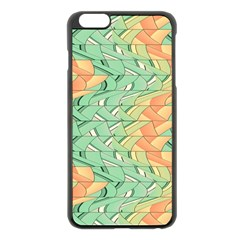 Emerald And Salmon Pattern Apple Iphone 6 Plus/6s Plus Black Enamel Case by linceazul